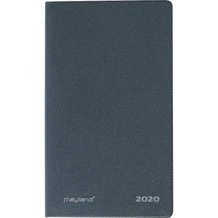 Indexplanner minikalender mørk grå 8x13cm 20 0710 00