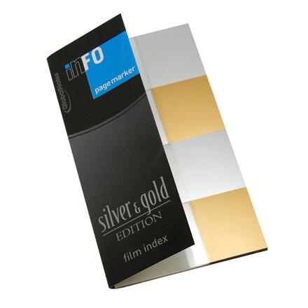 Info indexfaner sølv og guld - 20 x 42,5 mm - 4 x 25 stk