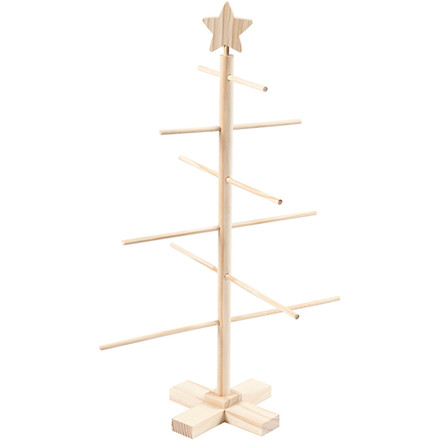 Juletræ, H: 60 cm, B: 40,5 cm, fyr, 1stk.