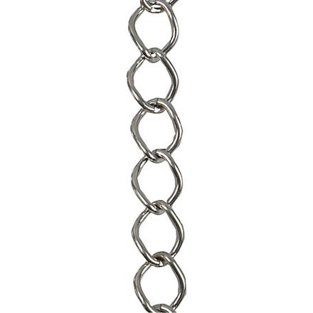Kæde, 13 mm, forsølvet, FS, 1 m