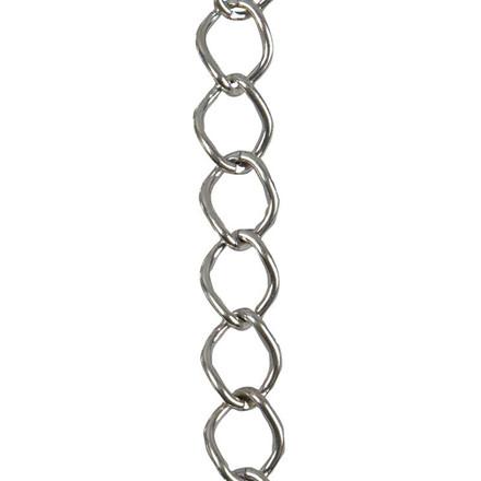 Kæde, 13 mm, forsølvet, FS, 3 m