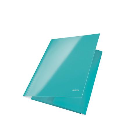 Leitz WOW elastikmappe A4 med 3 klapper isblå - 39820051