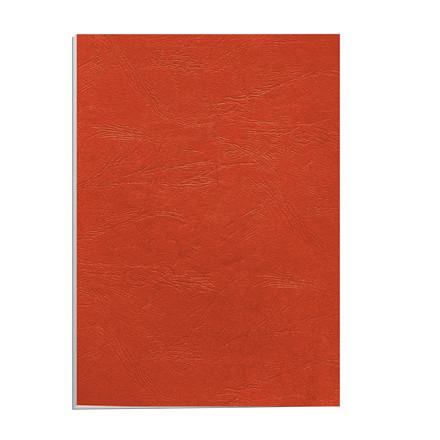 Kartonomslag - Fellowes rød 250 g A4 genbrug - 100 stk