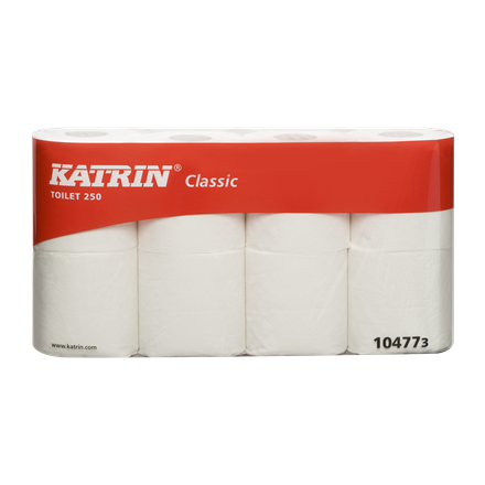 Katrin Classic 250 Toiletpapir 2 lags 250 ark 104773 - 64 ruller