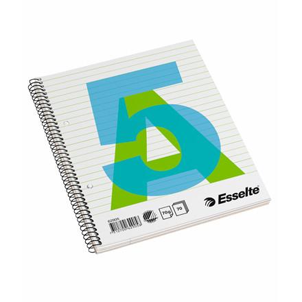 Kollegieblok - Esselte A5  linieret med spiralryg - 70 sider