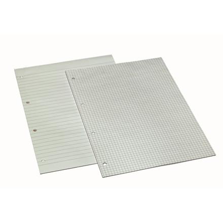 Konferenceblok A4 Bantex linieret toplimet 60g hvid m/4 huller