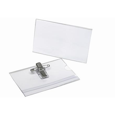 Kongresmærke med nål og klemme 55 x 90 mm 865207 - 50 stk.