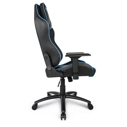 Gaming stol E-sport L33T PU Gaming Pro Level - blå sort