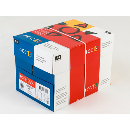 Kopipapir 4CC A4 100 gram til farve kopi InkJet laser - 500 ark