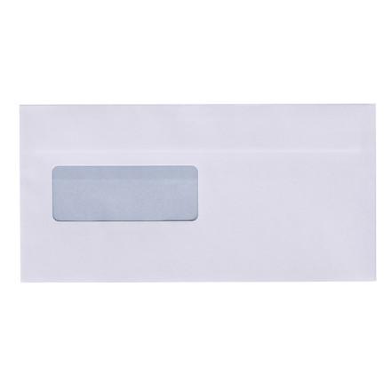 Kuverter - M65 med rude hvid 110 x 220 mm 13367 DS - 500 stk