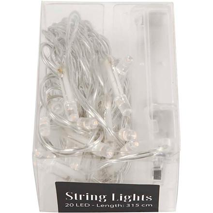 LED Lyskæde transparent | længde 3,15 meter