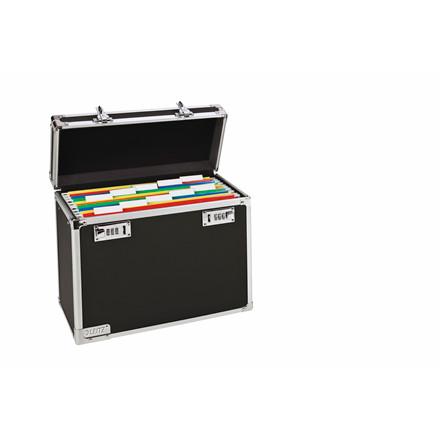 Leitz låsbar arkivkuffert til 15 hængemapper - sort