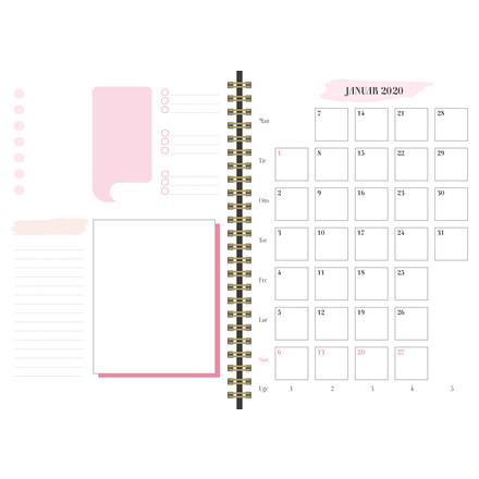 Life planner kalender pink 20 2274 00