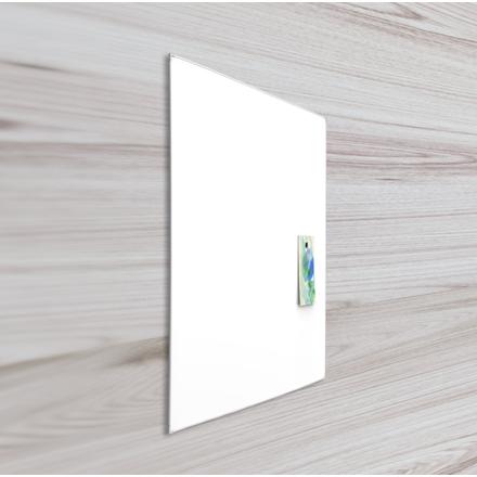 Whiteboardtavle 45 x 60 cm med lakeret overflade og aluramme - Lintex