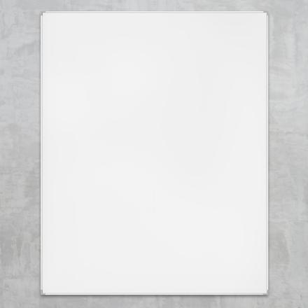 Whiteboard 90 x 120 cm lakeret Lintex - med aluramme