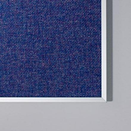 Opslagstavle 90 x 120 cm Lintex Boarder stofoverflade med aluramme - FLERE FARVER