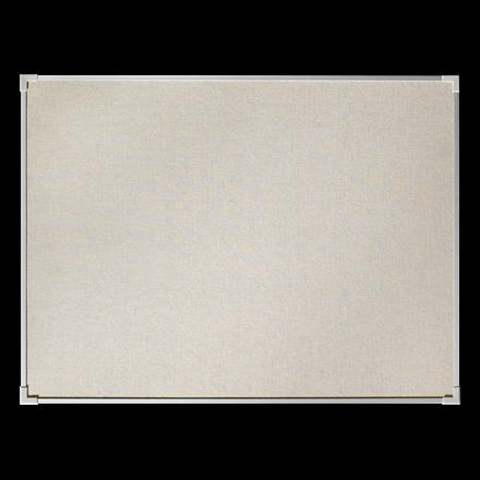 Opslagstavle 150 x 120 cm med naturstof og aluminiumsramme - Lintex Boarder
