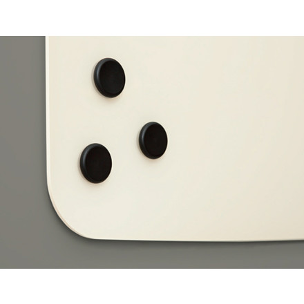 Lintex magneter, rund, sort, 10-pak