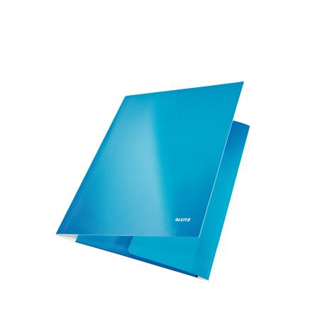 Elastik mapper A4 pap Leitz WOW - blå med 3 klapper