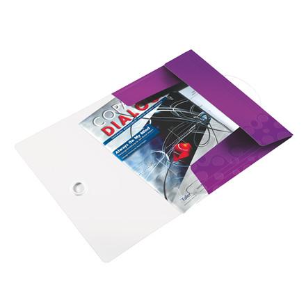 A4 elastikmappe PP Leitz WOW med 3 klapper lilla - 45990062