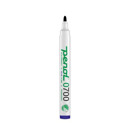 Marker Penol 0700 1,5mm blå rund spids permanent