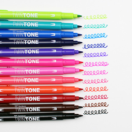 Marker Tombow TwinTone bright 0.3/0.8 (12)