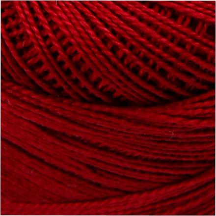 Merceriseret bomuldsgarn gammel rød - 20 gram