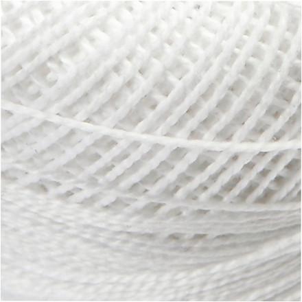 Merceriseret bomuldsgarn, hvid, 20g