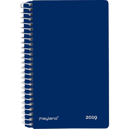 Minispiralkalender 2019 Mayland hård PP blå 8 x 12,6 cm 2 dage/side - 19 2350 00