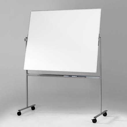 Mobil svingtavle - Lintex dobbelsidet whiteboard på stativ 100 x 120 cm