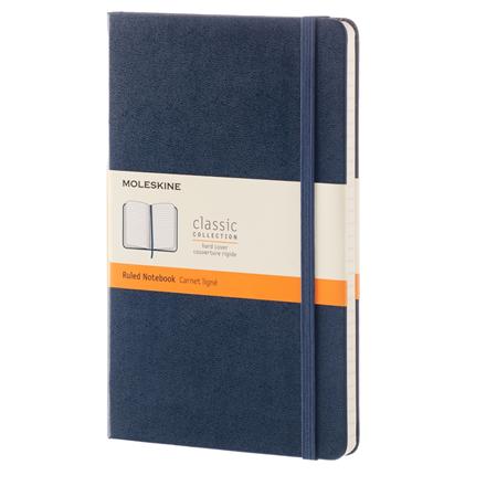 Moleskine Classic - Sapphire Blue Notesbog 13 x 21 cm - 192 linjeret sider