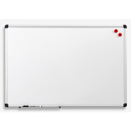 Naga whiteboardtavle - hvid lakeret med aluramme 90 x 120 cm