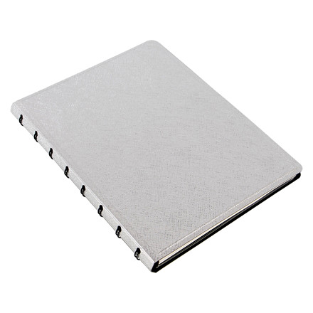 Notebook Filofax A5 silver incl linierede blade