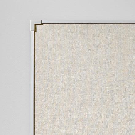 Opslagstavle Lintex Boarder naturstof med  aluramme - 60 x 90 cm