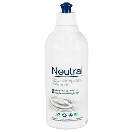 Opvaskemiddel Neutral uden parfume og farvestoffer - 500 ml