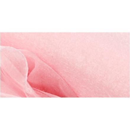 Organza stof bredde 50 cm lyserød shine   10 meter