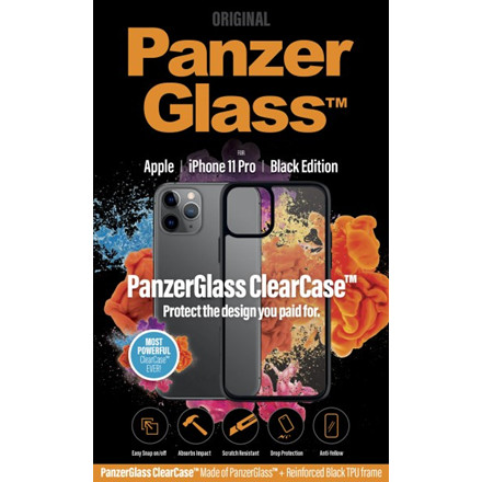 PanzerGlass ClearCase with BlackFrame for iPhone 11 Pro
