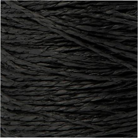 Papirgarn tykkelse 1,8 mm længde 470 meter sort tynd   250 gram