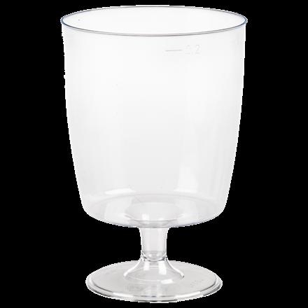 Plastikglas rødvin 20 cl med fod 1420 - 10 stk. i en pose