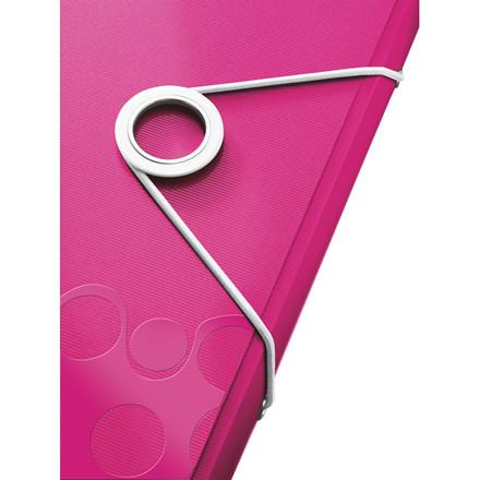 Leitz WOW elastikmappe A4 pink | 45990023