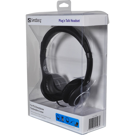 Sandberg Plug'n Talk Headset, Black