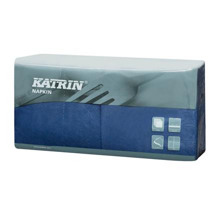 Servietter Katrin 1/4 Fold 3-la blå 25cm 4x250stk 113174