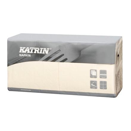 Servietter Katrin 1/4 Fold 3-la creme 25cm 4x250st 113181