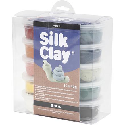 Silk Clay® , ass. farver, 10x40g