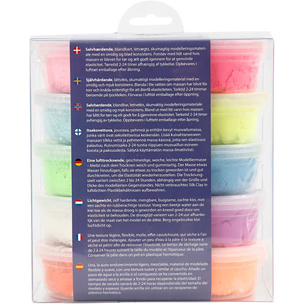 Silk Clay® assorteret farver Basic 2 - 10 x 40 gram
