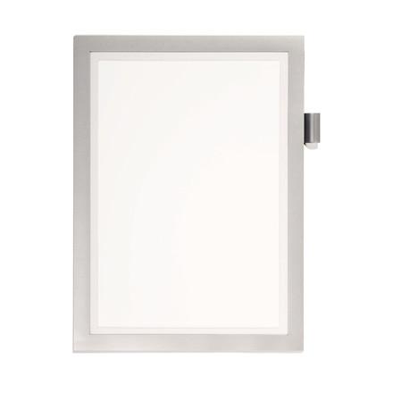 Skilt DURAFRAME® Note A4 m/sølv ramme