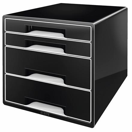 Skuffekabinet Leitz Desk Cube 4-skuffer sort