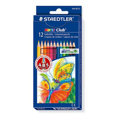 Staedtler Noris Club Farveblyanter - Sæt med 12 farver - 144 NC12