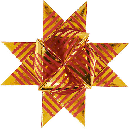 Stjernestrimler Vivi Gade Copenhagen Bredde 15 + 25 mm diameter 6,5 + 11,5 cm - 48 stk