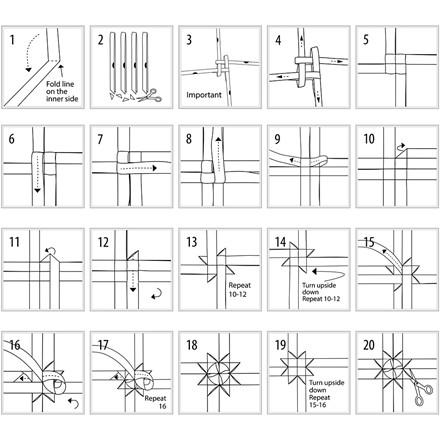 Stjernestrimler Vivi Gade Skagen Bredde 15 + 25 mm diameter 6,5 + 11,5 cm - 48 stk